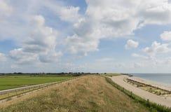 Dajk przy Wadden morzem Obraz Royalty Free