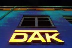 DAK在晚上 库存照片