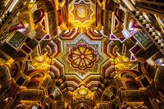 Dak binnen het kasteel van Cardiff stock afbeelding