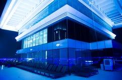 Dak-dek van een hotel, Doubai Van de binnenstad, Doubai, Verenigde Arabische Emiraat Royalty-vrije Stock Afbeeldingen
