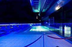Dak-dek van een hotel, Doubai Van de binnenstad, Doubai, Verenigde Arabische Emiraat Stock Afbeeldingen