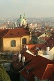 Dak een tegel Praag Stock Foto