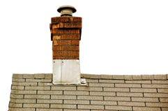 Dak en schoorsteen Stock Afbeeldingen