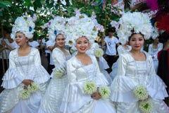 Dak Lak,越南- 2017年3月10日:执行者穿进行一个传统舞蹈的传统服装在组织的活动在Buon 库存照片