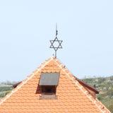 Dak met jude ster Royalty-vrije Stock Afbeeldingen