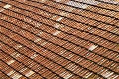 Dak met keramische tegels royalty-vrije stock foto