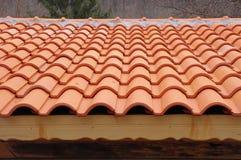 Dak met keramische tegels Royalty-vrije Stock Afbeelding