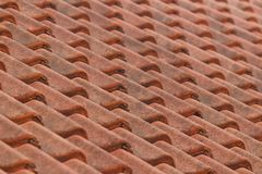 Dak met tegels voor patroon Stock Afbeelding