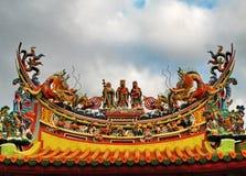 Dak os een tempel royalty-vrije stock foto's