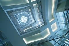 Dak transparant in de bureaubouw Royalty-vrije Stock Foto's