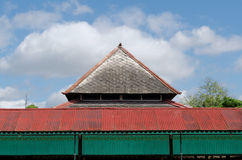 Dak van Bangsal Srimanganti, één zaal binnen Yogyakarta-het Paleis van het Sultanaat Royalty-vrije Stock Foto