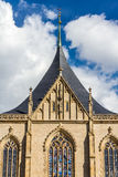 Dak van de Kerk van StBarbara (Kathedraal) - Kutna Hora stock afbeelding
