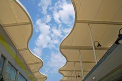 Dak van de moderne bouw Stock Foto