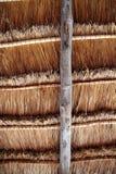 Dak van de palapa het traditionele zon van de hut wiev van hierboven Royalty-vrije Stock Foto's