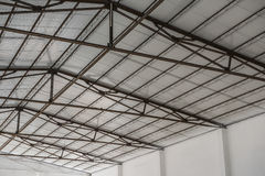 Dak van een fabriek Stock Foto