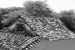 Dak van een oud huis Royalty-vrije Stock Fotografie