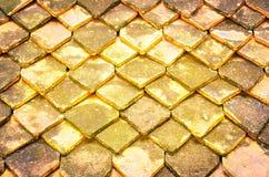 Dak van Gebakken Clay Roof-Tile Stock Fotografie
