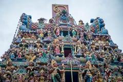 Dak van Hindoese tempel royalty-vrije stock afbeeldingen