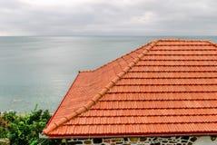 Dak van huis Stock Afbeelding