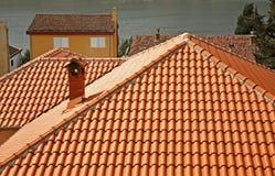 Dak van huis in Kotor montenegro Stock Fotografie