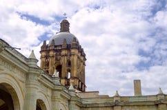 Dak van Santo Domingo Temple in Oaxaca stock afbeelding