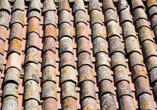 Dak van tegels Stock Foto