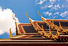 Dak Wat Phra Kaew Bangkok Stock Afbeelding