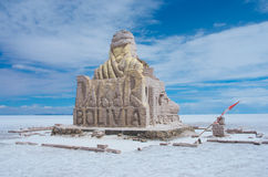 The Dakar Bolivia Monument in Salar de Uyuni Stock Image
