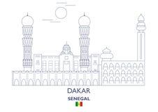 Dakar City Skyline, Senegal Royalty Free Stock Photo