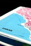Dakar map detail Royalty Free Stock Image
