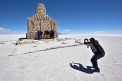 Dakar Rally Monument in Salar de Uyuni. Bolivia Stock Photo