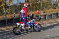 Dakar rally motor of Sjors van Heertum Royalty Free Stock Photo