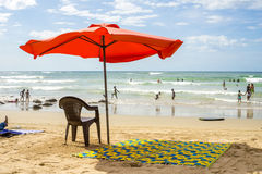 Dakar residents enjoying themselves at the beach Royalty Free Stock Image