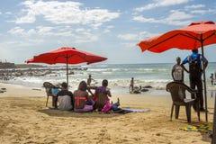 Dakar residents enjoying themselves at the beach Stock Photos