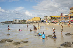 Dakar residents enjoying themselves at the beach Stock Photography