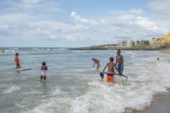 Dakar residents enjoying themselves at the beach Stock Images