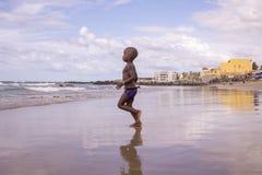 Dakar residents enjoying themselves at the beach Stock Image