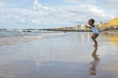 Dakar residents enjoying themselves at the beach Stock Photography