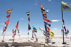 Dakar samlar flaggor Royaltyfria Foton