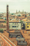 Dakbovenkant van gebouwen in Venetië Royalty-vrije Stock Foto's