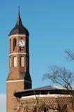 Dakbovenkant van St Johannis kerk in Brandenburg een der Havel (Bustehouder royalty-vrije stock afbeeldingen