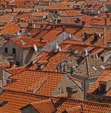 Dakbovenkanten in Dubrovnik Royalty-vrije Stock Fotografie