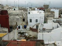 Dakbovenkanten in Morroco Stock Foto