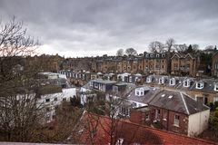 Dakcityscape van de Stad van Edinburgh royalty-vrije stock afbeelding