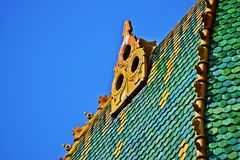 Dakdetail Boedapest Royalty-vrije Stock Foto's