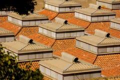 Daken in Barcelona Stock Foto
