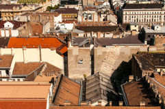 Daken in Boedapest, Hongarije Stock Fotografie