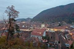 Daken in Brasov, Transsylvanië Royalty-vrije Stock Foto's
