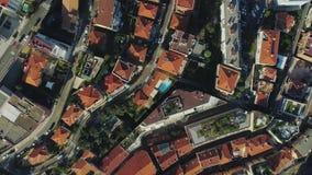 Daken en flatgebouw in de stad van de stadsfrankrijk van Monaco Monte Carlo met Yahts-zeehavenboten en casino stock video