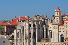 Daken in Lissabon, Portugal Royalty-vrije Stock Afbeeldingen